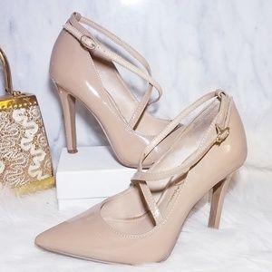 Jessica Simpson Strappy Pumps Nude Tan 5 Heels